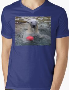 Want to play ? Mens V-Neck T-Shirt
