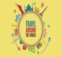 travel around the world Kids Tee