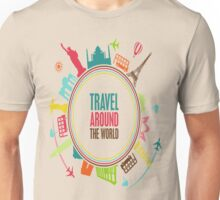 travel around the world Unisex T-Shirt