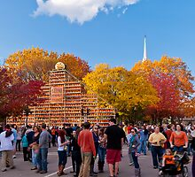 Autumn Scene at Keene Pumpkin Festival by Mitchell Grosky
