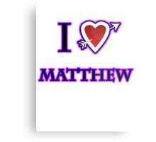 i love matthew heart  Metal Print