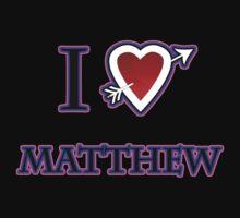 i love matthew heart  Kids Clothes