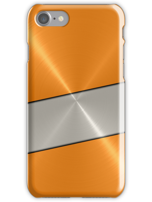 Orange and Silver Stainless Shiny Steel Metal Look by Nhan Ngo