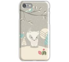 Christmas baby fox 07 iPhone Case/Skin