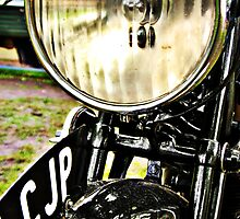 Vintage motorcycle headlight and license plate by htrdesigns