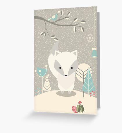 Christmas baby fox 07 Greeting Card