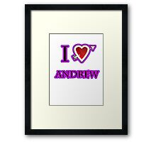 i love Andrew heart  Framed Print