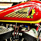 Vintage Indian motorcycle gas tank and engine by htrdesigns