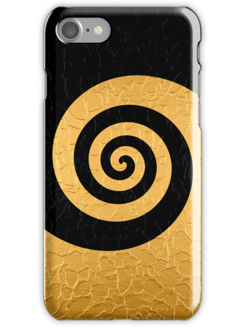 Gold and Black Stainless Shiny Steel Metal Swirl Pattern by Nhan Ngo