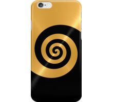 Gold and Black Shiny Stainless Steel Metal Swirl Pattern iPhone Case/Skin