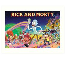 Rick And Morty..........And Monsters Art Print