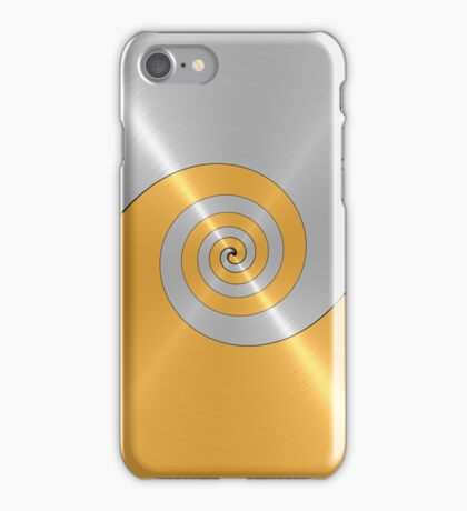 Silver and Gold Shiny Stainless Steel Metal Swirl  iPhone Case/Skin