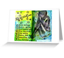 Remembering My Son -  Art Journal Entry Greeting Card