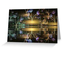 Night Flowers Greeting Card