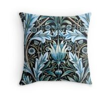 William Morris Blue Pattern Throw Pillow