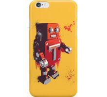 Red Tin Robot Splattery Shirt or iPhone Case iPhone Case/Skin
