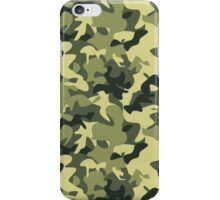 Military camouflage pattern iPhone Case/Skin