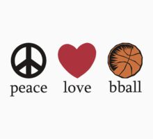 Peace Love Basketball Kids Clothes