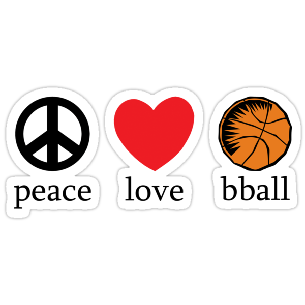 Peace Love Basketball by SportsT-Shirts