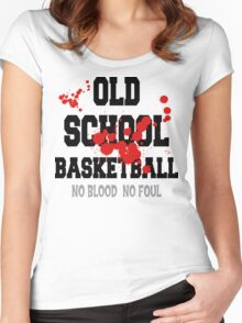 Old School Basketball Women's Fitted Scoop T-Shirt