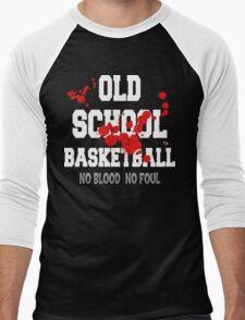 Old School Basketball Dark Men's Baseball ¾ T-Shirt