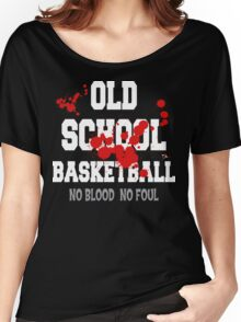 Old School Basketball Dark Women's Relaxed Fit T-Shirt
