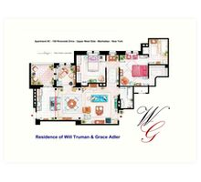 Apartment of Will Truman and Grace Adler Art Print