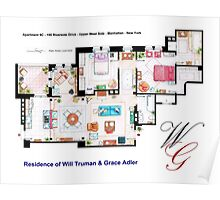 Apartment of Will Truman and Grace Adler Poster