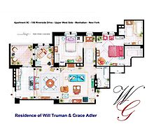 Apartment of Will Truman and Grace Adler Photographic Print