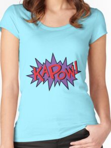 kapow Women's Fitted Scoop T-Shirt