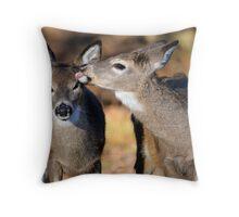 white-tailed fawns Throw Pillow