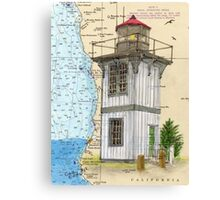 Table Bluff Lighthouse CA Nautical Map Cathy Peek Canvas Print