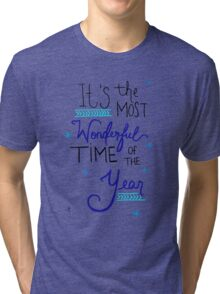 Most Wonderful Time of the Year Tri-blend T-Shirt