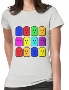 ghost faces Womens Fitted T-Shirt