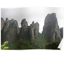 The Rocks of Meteora Poster