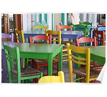 Colorful Chairs Poster
