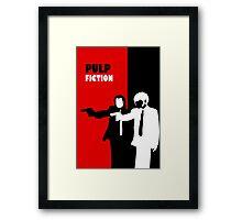 Pulp Fiction Stencil Art Framed Print
