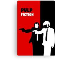 Pulp Fiction Stencil Art Canvas Print