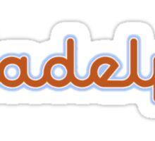 Illadelph Logo Sticker (Orange/Blue) Sticker