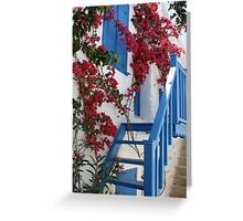 Flowers and Stairs Greeting Card