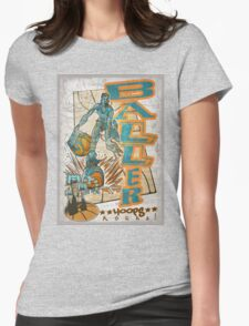 Baller Basketball Hoops Player Womens Fitted T-Shirt