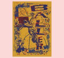 Slam Dunk Baller Yellow and Purple One Piece - Short Sleeve