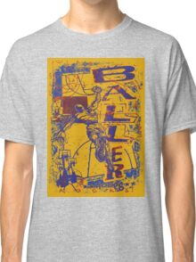 Slam Dunk Baller Yellow and Purple Classic T-Shirt