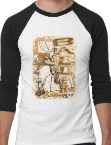 Baller Hoops Basketball Slam Dunker Men's Baseball ¾ T-Shirt
