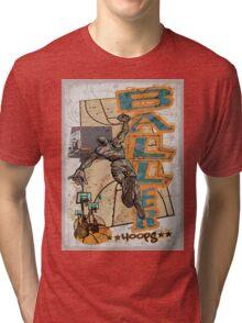 Baller Hoops Basketball Slam Dunker Tri-blend T-Shirt