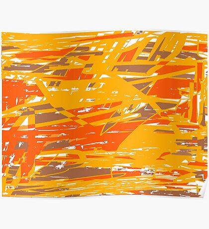 Funk (orange brown yellow) Poster