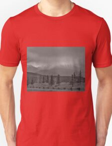 Storm Across The Valley - black and white Unisex T-Shirt