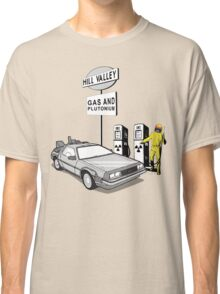 Back to the Future Delorean 'Hill Valley Gas Station' Classic T-Shirt