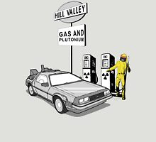 Back to the Future Delorean 'Hill Valley Gas Station' Unisex T-Shirt
