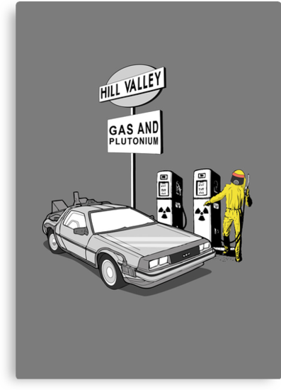 Back to the Future Delorean 'Hill Valley Gas Station' by Creative Spectator